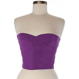 Purple bandage-style crop top/tube top